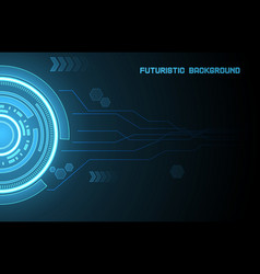 Futuristic glowing hud element eps 10 vector