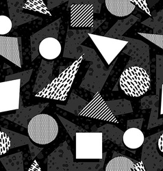 Seamless pattern in black and white retro style vector
