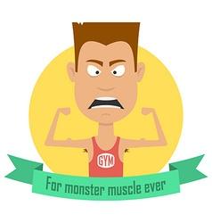 Cartoon bodybuilding men gym fitness professional vector