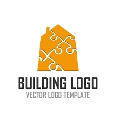 Logo pattern construction vector image