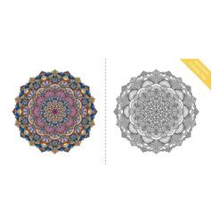 antistress coloring page mandala third vector image