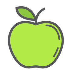 apple line icon fruit and diet graphics vector image vector image