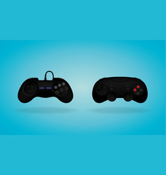 Black gamepad video game controller vector