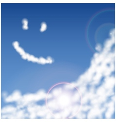 Blue sky with clouds closeup vector