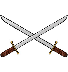 cartoon swords vector image vector image