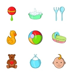 Child icons set cartoon style vector image vector image