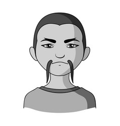 chinesehuman race single icon in monochrome style vector image