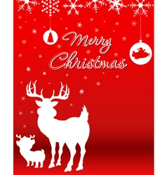 Christmas Background With Reindeer Baby Reindeer vector image vector image