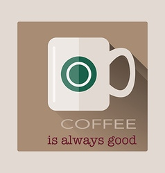 Cup of coffee in flat design vector