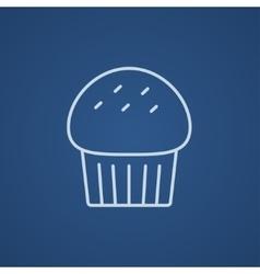 Cupcake line icon vector