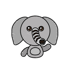 draw elephant animal comic vector image vector image