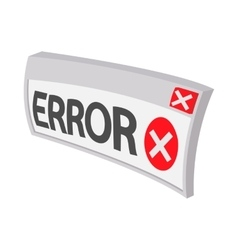 Error icon cartoon style vector image