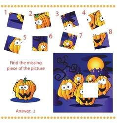 Find missing piece - Puzzle game for Children vector image