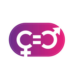 Gender equity symbol sign over white vector