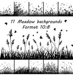 Grass set vector image