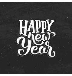 Happy New Year vintage greeting card vector image