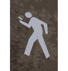 Man walking with a smartphone vector image