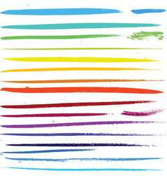 multi colored paint art brushes vector image vector image