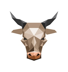 Origami bull vector image vector image