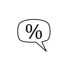 percentage icon vector image vector image