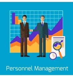 Personnel Management People Handshake vector image vector image