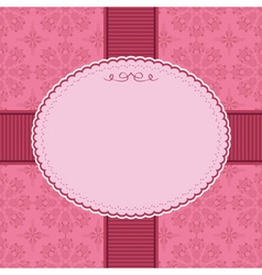 pink frame decoration vector image