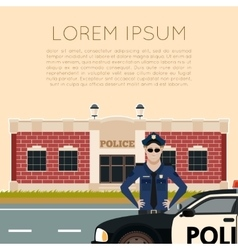 Police department banner5 vector image vector image
