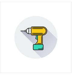 Screwdriver icon on white background vector