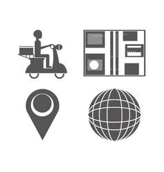 Set delivery service prescription and occupation vector