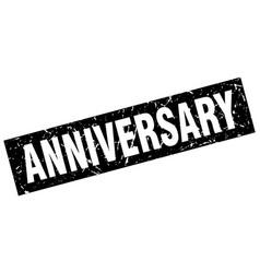 Square grunge black anniversary stamp vector