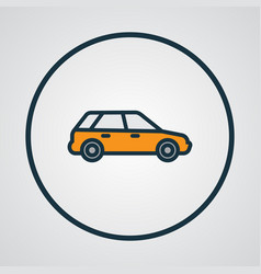 Station wagon colorful outline symbol premium vector