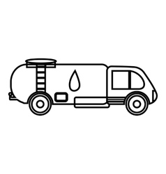 Truck carries petrol icon outline style vector