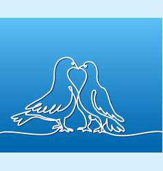 Two doves logo white on blue gradient background vector