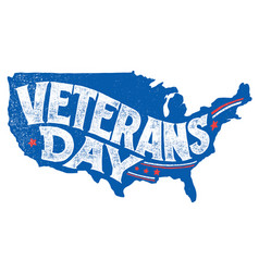Veterans day holiday hand-lettering greeting card vector