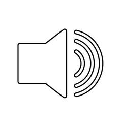 Volume bullhorn symbol vector image