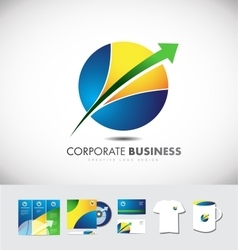 Circle sphere arrow corporate business logo icon vector image