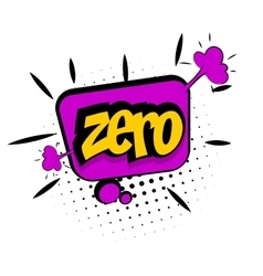 Comic sound effects pop art zero number vector