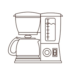 Silhouette coffee maker with glass jar vector