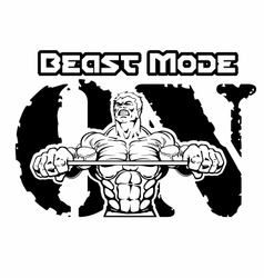 beast-mode-on-bodybuilding- vector image