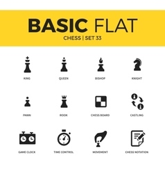 Basic set of chess icons vector