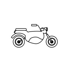 Vintage motorcycle speed transport outline vector