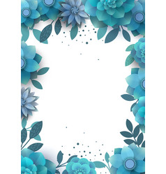 Template design flower arrangement with place for vector