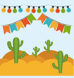 Colorful background with festive decoration vector
