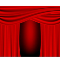 Red curtain background vector