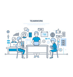 Teamwork communication workflow space vector