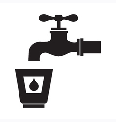 Drinking water icon vector