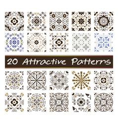 20 Attractive Patterns Art 01 vector image