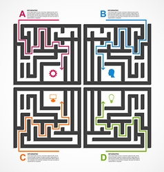 Labyrinth infographic concept design template vector