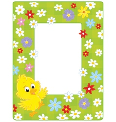 Border with a chick vector