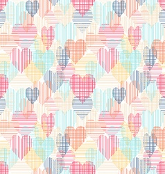 Abstract colorful seamless pattern with hearts vector